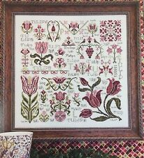 Dreaming of Tulips Sampler Rosewood Manor Kluba Cross Stitch Pattern