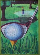 "Golf Tee Time Garden Flag by NCE #22208,  12.5"" x 18"""