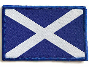 SCOTLAND PATCH sew on Scottish Saltire embroidered military flag badge UK army