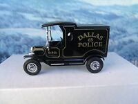 1/43 Matchbox  collectibles 1912 Ford Model T Van Dallas Police Dept DYM 38019
