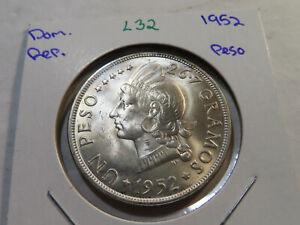 L32 Dominican Republic 1952 Peso BU
