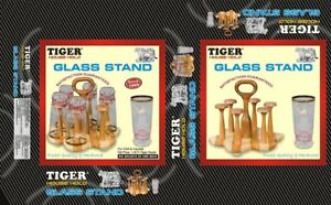 Glass Stand made by wood (Tiger Brand) (free post in UK)