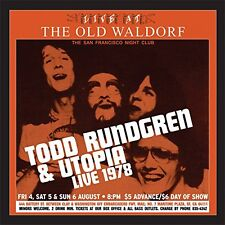 Todd Rundgren & Utopia Live At The Old Waldorf 2LP GOLD VINYL EDITION