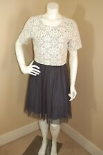 NEW $168 Anthropologie WESTON Laced Tulle Dress~Size M~Ballerina Crop