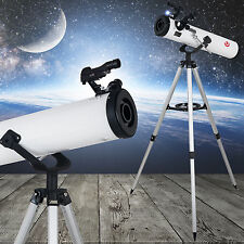 Reflector Telescope 700x76mm beginner with Tripod and Eyepieces Astronomic