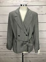Theory Belted Jacket Houndstooth Women's Size 8 Short Coat Blazer $325 NWT
