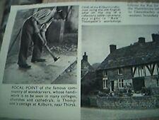 ephemera 1952 picture bob thompson woodcarver kilburn