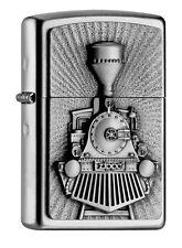ZIPPO Lighter ● Steam Train Locomotive a Vapeur Train Emblème ● 2004732 ● NEUF new neuf dans sa boîte ● a79