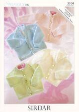 Sirdar Baby Knitting Pattern Cardigans  - 3104 - DK Double Knit
