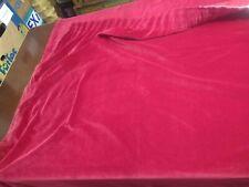 """Vintage Pair Red Velvet Curtains unlined 158 cm 62"""" drop, 178 cm 70"""" wide"""