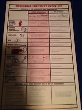 POSTER VINTAGE  COAST GUARD Motorboat Equipment Checklist Boat List