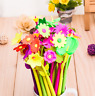 2Pcs Creative Plant Flowers Gel Pen Writing Pen Kids School Stationery Gift