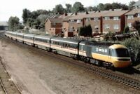 PHOTO  CLASS 43 LOCO NO 43183 LEADING AND 43017 AT SWINTON 1990