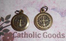 "Medalla De San Benito - St Benedict - Premium Rd Bronze tone OX  3/4"" Medal"
