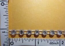 4mm Rhinestone Trimming Craft Sew on w/ Plastic cup base, Rhinestone Trim 1yd
