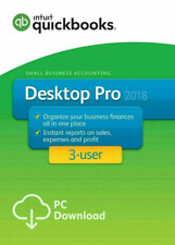 Intuit Quickbooks Pro 2018 For Win 🔥 3 User 🔥 70 % OFF 🔥