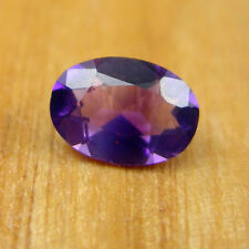 Oval 7x5mm Faceted Cut Deep Purple Amethyst Natural Loose Gemstone, 0.75 carats