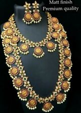 Indian Bollywood Style Ethnic Tribal Gold Plated Bridal Jewelry Necklace Set