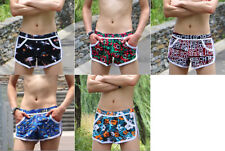 Summer Cool Men's Casual SIDE SPLIT Shorts Home Lounge Wear Short Pants Bottoms