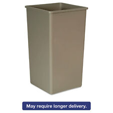 Rubbermaid Commercial Untouchable Waste Container Square Plastic 50 gal Beige