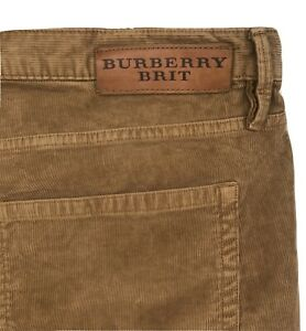 Burberry Britt Men Corduroy Gold Brown Pants Sz|36