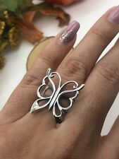 925 Butterfly sterling silver ring women