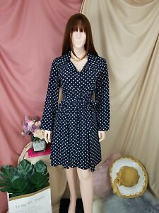 cherrie424: Navy Dotted Vintage Dress
