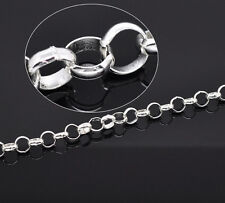 Silver Plated Link-Closed Chain Fit Link Chain Bracelet 10mm, 2M SP0842