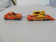 Vintage 1960's Matchbox Made in England by Lesney Truck,Trl.,Tractor LAING