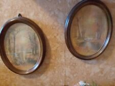 Pair of Vintage Collectible Homco Oval Pictures