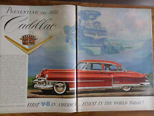 1953 Cadillac Coupe Ad First v-8 in America Finest in the World Today