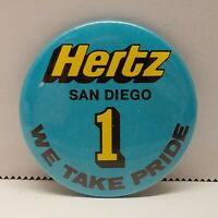 VTG Hertz San Diego 1 We Take Pride Pin Back Button Car Rental Co Advertiser