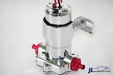 Universal Chrome Extreme Duty Electric High Volume Fuel Pump 7 PSI 100 GPH Red