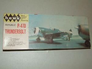 1965 HAWK Model Kit 500-100 Republic P-47D Thunderbolt Plane 1/4 Unassembled