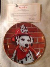 Danbury Mint Fire Capers Dalmation Dogs Puppy Collectors Plates w/ Certificates
