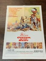 Custer Of The West Movie Poster Jeffery Hunter Robert Shaw Little Big Horn 41x27
