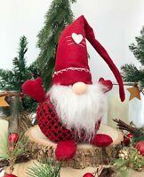 Nordic Santa Gonk Scandi Christmas Decoration Festive Red Gnome Gonkert Xmas