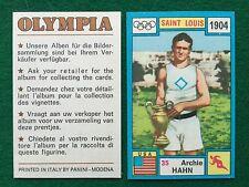 OLYMPIA 1972 n.35 Archie HAHN USA ATLETICA , Figurina Sticker Panini (NEW)