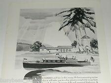1930 Chris-Craft ad, 38 ft cruiser, wooden motorboat