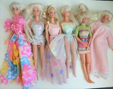 Lot de 6 poupées Barbies années 90 Mattel habillées et bon état