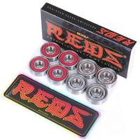 BONES REDS Skateboard Wheel Bearings Precision Size 608 Original 8-Pack 8x22x7mm