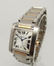 Cartier Tank Française 18K Gold & Stainless Steel Unisex 2302 Watch 28x32mm
