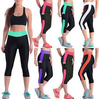 Women Yoga Running Sports Pants Fitness Gym Clothes High Waist Trousers Leggings