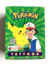 Pokemon Tattoos Topps Merlin RARE 1999 Nintendo