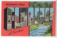 [51584] OLD LARGE LETTER POSTCARD GREETINGS FROM FLORENCE, SOUTH CAROLINA
