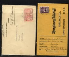 Angola   2   covers  to    US           KL1012