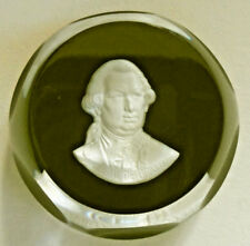 Baccarat Cameo Sulphide Paperweight Ruby Red Admiral de Grasse 1975