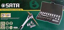 SATA professional 21pc Pass-Thru® 3/8'', metric, imperial socket set. 09134