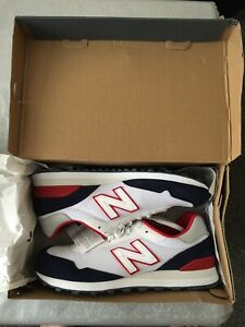 Brand New Size UK 9 New Balance 515 White, Navy & Red Sports & Outdoors Trainers
