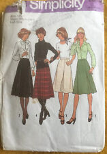 70s Simplicity Sewing Pattern Skirts Two Lengths Regular & Below Knee Size 14.5
